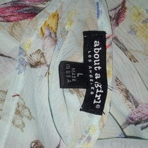 About A Girl Tops - About a Girl Sheer Top